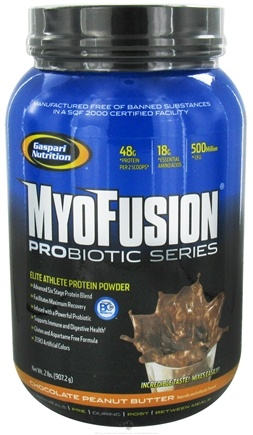 DROPPED: Gaspari Nutrition - MyoFusion Probiotic Series Protein Chocolate Peanut Butter - 2 lbs.
