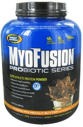 DROPPED: Gaspari Nutrition - MyoFusion Probiotic Series Protein Chocolate Peanut Butter - 5 lbs.