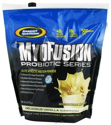 DROPPED: Gaspari Nutrition - MyoFusion Probiotic Series Protein Delicious Vanilla - 1 lb. CLEARANCE PRICED