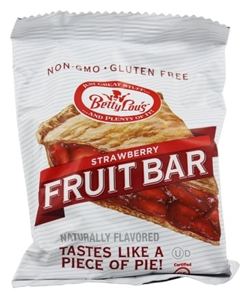 Betty Lou's - Fruit Bars Gluten Free Strawberry - 2 oz.