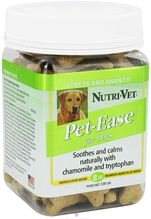 DROPPED: Nutri-Vet - Pet-Ease For Dogs Wafers Chicken - 8 oz.