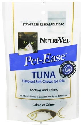 DROPPED: Nutri-Vet - Pet-Ease For Cats Soft Chews Tuna - 2.5 oz. CLEARANCE PRICED