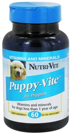 DROPPED: Nutri-Vet - Puppy-Vite For Puppies Liver - 60 Chewables CLEARANCE PRICED