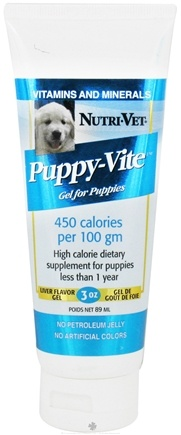 DROPPED: Nutri-Vet - Puppy-Vite Gel For Puppies Liver - 3 oz. CLEARANCE PRICED