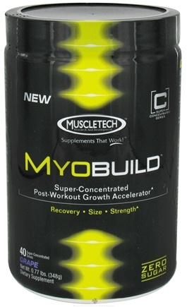 DROPPED: Muscletech Products - MyoBuild Super Concentrated Post-Workout Growth Accelerator Grape 40 Servings - 0.71 lbs.
