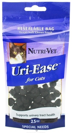 DROPPED: Nutri-Vet - Uri-Ease For Cats Soft Chews Chicken And Tuna - 2.5 oz. CLEARANCE PRICED