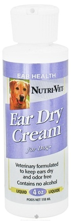 DROPPED: Nutri-Vet - Ear Dry Cream For Dogs - 4 oz. CLEARANCE PRICED
