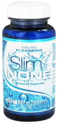 DROPPED: BioRhythm - Slim to None Colon Cleansing - 60 Capsules