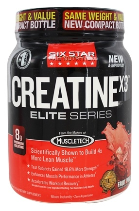 Six Star Pro Nutrition - Elite Series Creatine X3 Fruit Punch - 2.53 lbs.