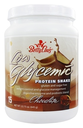 Betty Lou's - Low Glycemic Designer Protein Shake 15 Servings Chocolate - 22.75 oz.