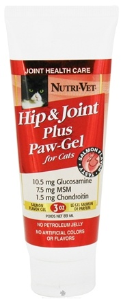 DROPPED: Nutri-Vet - Hip & Joint Plus Paw-Gel For Cats Salmon - 3 oz. CLEARANCE PRICED