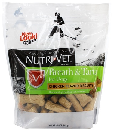 Nutri-Vet - Breath & Tartar Biscuits For Dogs Chicken Flavored - 19.5 oz.