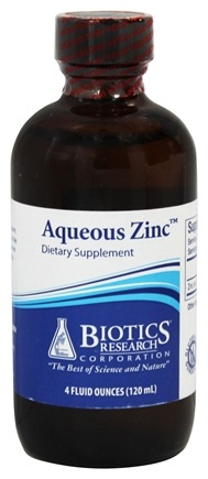DROPPED: Biotics Research - Aqueous Zinc - 4 oz.