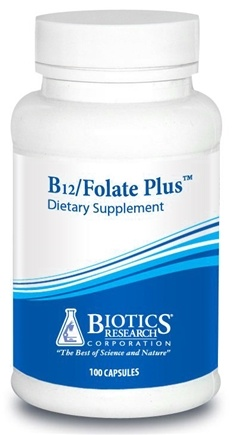 DROPPED: Biotics Research - B12-Folate Plus - 100 Capsules CLEARANCE PRICED
