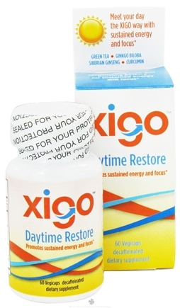 DROPPED: Xigo Health - Daytime Restore Caffeine Free - 60 Vegetarian Capsules CLEARANCE PRICED