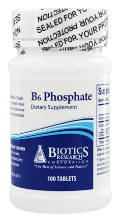 Biotics Research - B6 Phosphate - 100 Tablets