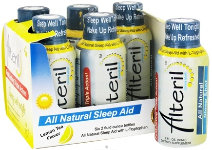 DROPPED: Alteril - Sleep Aid All Natural Fast Acting Liquid Shots Lemon Tea - 6 Bottle(s)