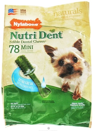 DROPPED: Nylabone - Nutri Dent Edible Dental Chews Mini Extra Fresh - 78 Chew(s)