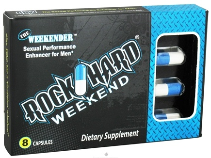 DROPPED: Rockhard Laboratories - RockHard Weekend The Weekender Sexual Performance Enhancer for Men - 8 Capsules CLEARANCE PRICED
