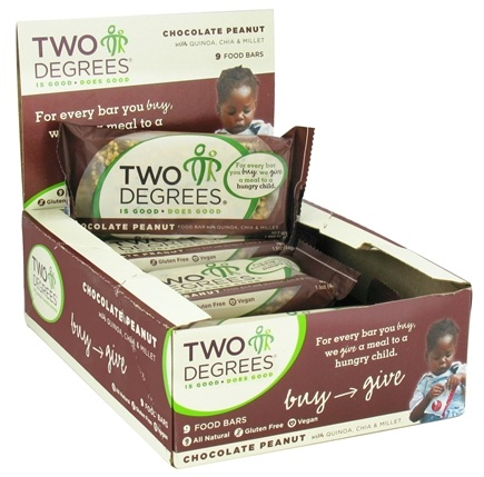 DROPPED: Two Degrees Foods - Nutrition Bar Chocolate Peanut - 1.6 oz.