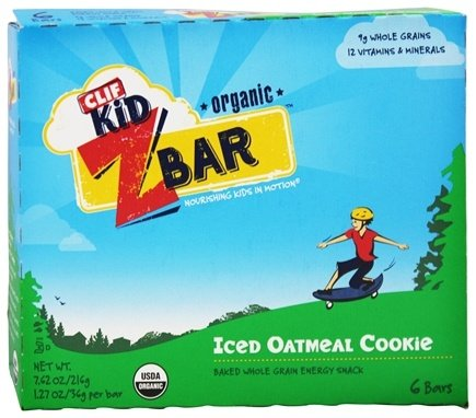 Clif Bar - Kid Z-Bar Organic Iced Oatmeal Cookie - 6 Bars