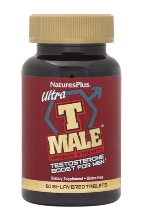 Nature's Plus - Ultra T Male Maximum Strength Testosterone Booster for Men - 60 Tablets