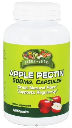 DROPPED: Garden Greens - Apple Pectin 500 mg. - 120 Capsules
