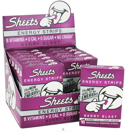 DROPPED: Sheets - Energy Strips Berry Blast - 10 Strip(s)