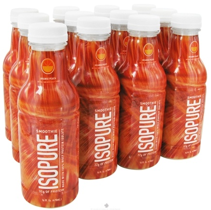 DROPPED: Nature's Best - Isopure Smoothie RTD Orange Peach - 12 Bottle(s) CLEARANCE PRICED