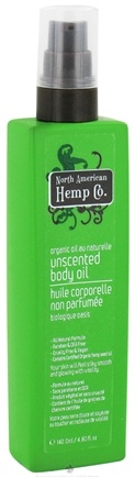 DROPPED: North American Hemp Company - Unscented Body Oil - 4.8 oz. CLEARANCE PRICED