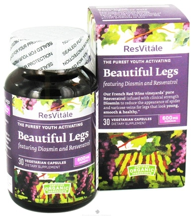 DROPPED: ResVitale - Beautiful Legs 600 mg. - 30 Vegetarian Capsules
