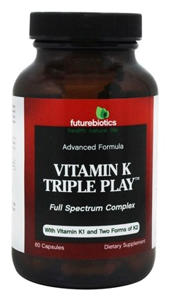 Futurebiotics - Vitamin K Triple Play Advanced Formula Full Spectrum Complex - 60 Capsules