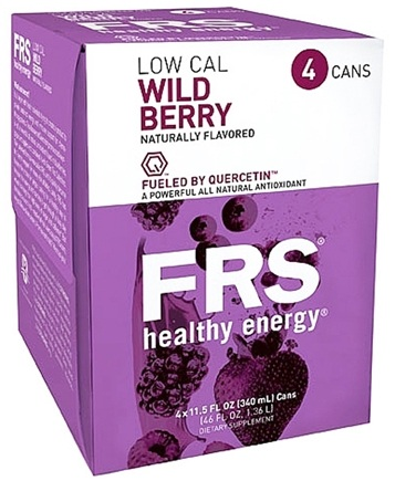 DROPPED: FRS Healthy Energy - All Natural Energy + Endurance Low Calorie Drink Wild Berry - 4 Pack