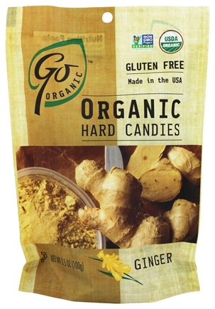 Go Naturally - Organic Hard Candies Ginger - 3.5 oz.