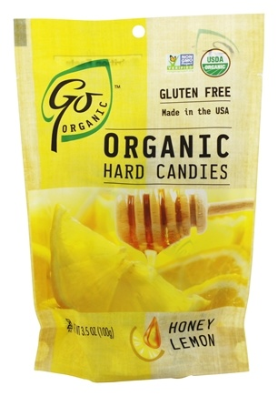 Go Naturally - Organic Hard Candies Honey Lemon - 3.5 oz.