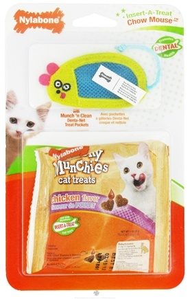 DROPPED: Nylabone - Insert-A-Treat Chow Mouse Cat Toy & Crunchy Munchies Cat Treats - CLEARANCE PRICED