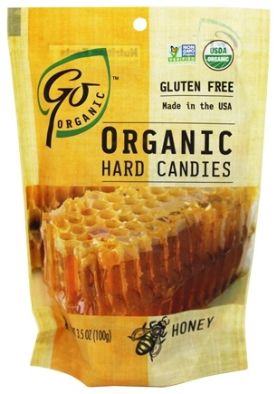 Go Naturally - Organic Hard Candies Honey - 3.5 oz.