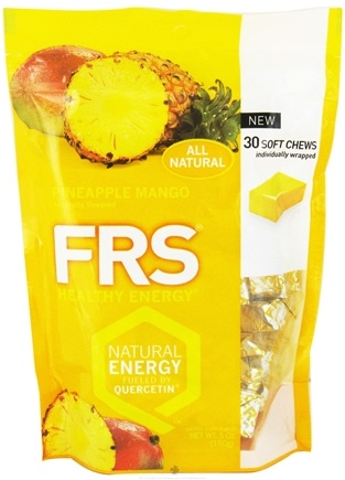 DROPPED: FRS Healthy Energy - Soft Chews Pineapple Mango - 30 Soft Chews