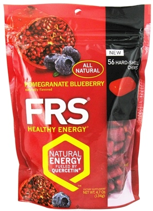 DROPPED: FRS Healthy Energy - Hard Shell Chews Pomegranate Blueberry - 56 Chews