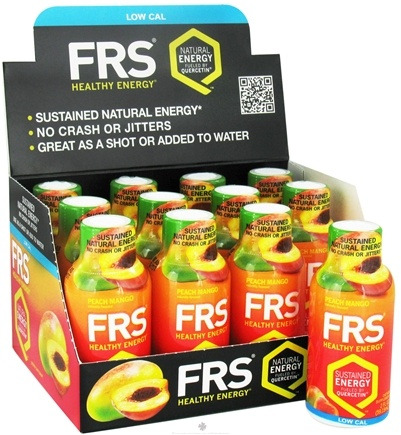 DROPPED: FRS Healthy Energy - All Natural Energy Shot Peach Mango - 2 oz.