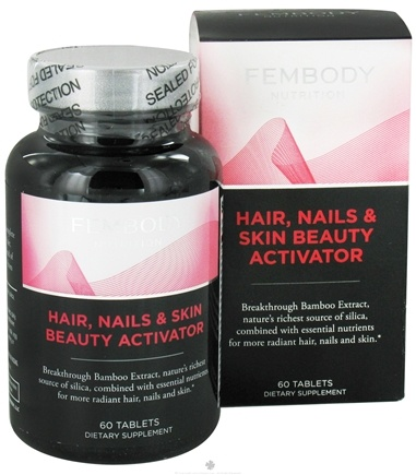 DROPPED: Fembody Nutrition - Hair, Nails & Skin Beauty Activator - 60 Tablets