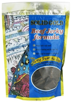 DROPPED: Solid Gold - Beef Jerky Dog Treats - 10 oz. CLEARANCE PRICED