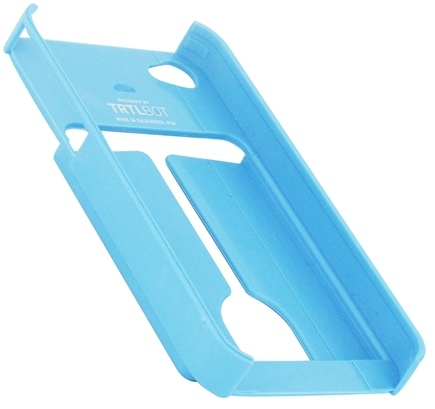 DROPPED: TRTL BOT - Minimalist 4 Eco-Friendly iPhone 4 / 4S Shell with Card Holder Blue - CLEARANCE PRICED