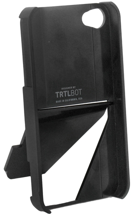 DROPPED: TRTL BOT - Stand 4 Eco-Friendly 3 Way Stand for iPhone 4 / 4S Black - CLEARANCE PRICED