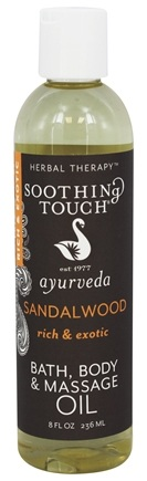 Soothing Touch - Bath, Body & Massage Oil Rich & Exotic Sandalwood - 8 oz. LUCKY PRICE