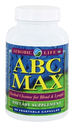 Aerobic Life - ABC MAX Herbal Cleanse for Blood and Lymph - 90 Capsules