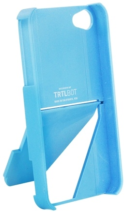 DROPPED: TRTL BOT - Stand 4 Eco-Friendly 3 Way Stand for iPhone 4 / 4S Blue - CLEARANCE PRICED