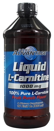 DROPPED: Pure Advantage - Liquid L-Carnitine Fruit Punch 1000 mg. - 16 oz. CLEARANCE PRICED