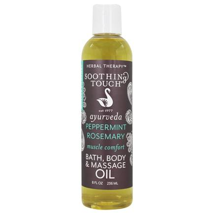 Soothing Touch - Bath, Body & Massage Oil Muscle Comfort Peppermint Rosemary - 8 oz.