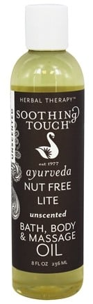 DROPPED: Soothing Touch - Bath Body & Massage Oil Nut Free Lite Unscented - 8 oz. CLEARANCE PRICED